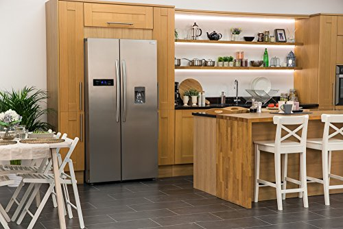 Russell Hobbs American Style Fridge freezer, 90cm wide, Side by Side, A+ efficiency, RH90FF176SS-WD 2 Year Warranty** (Stainless steel)