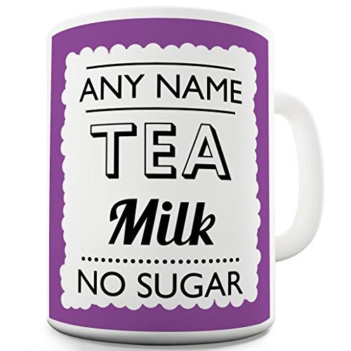 personalisiert mit Name (mit jeder Name, Trinken, Nachricht, Text) violett Funny Tasse, keramik, weiß, 15 OZ (Personalisierte Tassen Trinken)