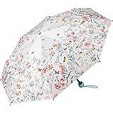 ESPRIT Floraler Regenschirm im Handtaschen-Format