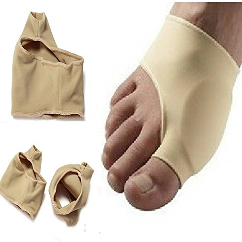 Price comparison product image KINGSO 1 Pair Bunion Gel Lined Pads Sleeves Hallux Valgus Protector Sleeve Pad Shield Blisters Foot Pain Relief Unisex