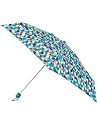 Totes Womens Compact Miniflat 5 Section Umbrella With A Multi Dots Print