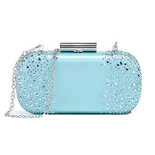 Fashion Casual Lady Party Party Borsa In Pelle Pu Azzurro Chiaro