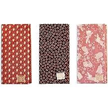 Hecho en Japón Komon 3 Set de toallas de la suerte (lino hoja, Sakura