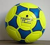 Balón de fútbol Lionstrike ligero, de cuero, de tamaño 3, color blanco, color amarillo, tamaño talla 3
