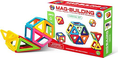 Smartcraft Building Magnetic Tiles Set - Intelligent Magnetic Construction Set Brain Development with 20 Pieces - for 3 Years and up!