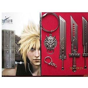Final Fantasy VII Arme Epée loup collier 4 pc Gift Box Set