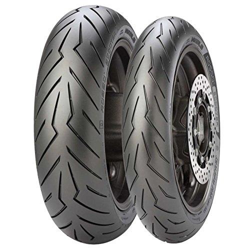 Paire Pneu pneus Pirelli Diablo Rouge Scooter 120/70 - 14 55S 150/70 - 14 66S