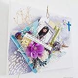 Individuelles Leinwandbild Mixed Media Art Gemälde m. Foto Leinwand Bild Wanddeko Kommuniongeschenk Geschenk zur Kommunion Konfirmation Mädchen lila Handarbeit binnbonn