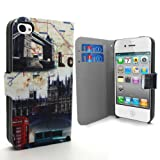Accessory Master 5055716366228 London Bridge Design Buch Pu Ledertasche für Apple iphone 4S