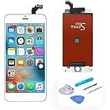 SANKA Pantalla Táctil LCD Reemplazo de Pantalla para iphone 6 Plus con Herramientas,Color Blanco