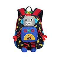 YL Cartoon Robot Kids School Bag Baby Anti-Lost Backpack Boys Girls Shoulder Bag
