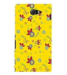 PrintVisa Designer Back Case Cover for Sony Xperia M2 Dual :: Sony Xperia M2 Dual D2302 (art season star pattern disks)