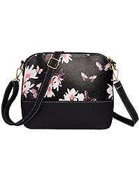 Contever® Bonita Pequeño Bolsos Bandolera de la PU Cuero Impresión de Patrones Bolso Bandolera / Bolsa de Hombro para Mujer (Modelo de Mariposa)