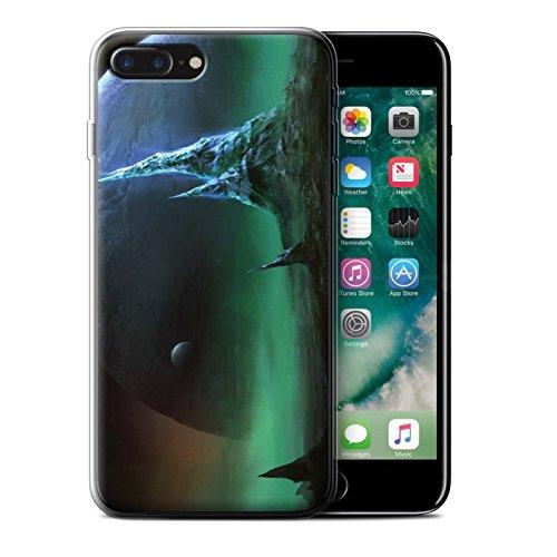 Offiziell Chris Cold Hülle / Gel TPU Case für Apple iPhone 7 Plus / Planet/Mond Muster / Fremden Welt Kosmos Kollektion Saphir Spitzen