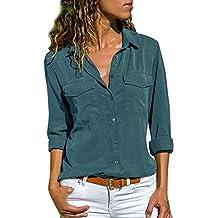 Camisas Mujer Casual, ❤ Amlaiworld Camiseta de Cuello Alto de Solapa Casual para Mujer