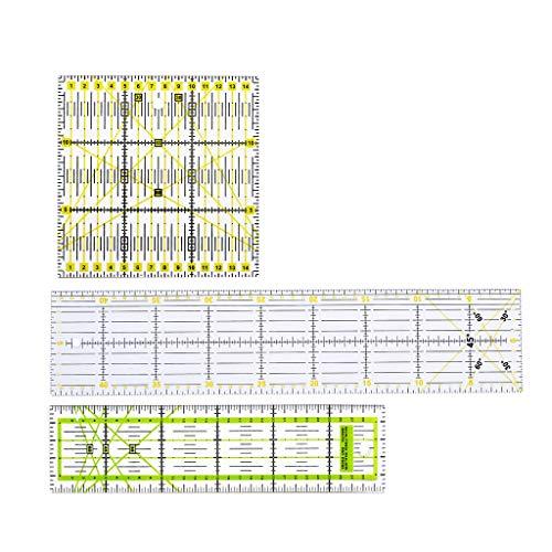ZJL220 Clear Quilting Yardstick Reglas Patchwork Gobernante de Costura Conjunto de Herramientas de Corte Craft DIY 3Pcs
