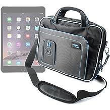 DURAGADGET Maletín Negro y Azul Para Apple iPad Air 2 ( Wi-Fi, Wi-Fi + Cellular ) - Con Bandolera Ajustable