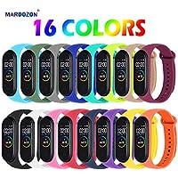 Mardozon Correa para Xiaomi Mi Band 3/4 Pulseras Reloj Coloridos Silicona Banda Reemplazo para Mi Band 3 Compatible con Mi Smart Band 4
