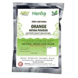 Orange Henna Hair Color – 100% Organic and Chemical Free Henna for Hair Color Hair Care - ( 120 Gram = 2 Packet)