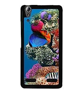 printtech Fish Ocean Coral Back Case Cover for Lenovo A6000