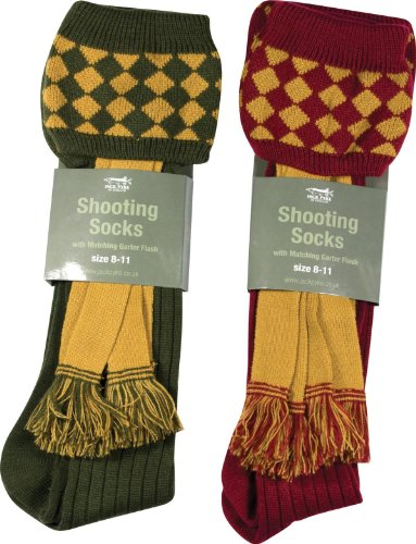 Jack Pyke Jagd Shooting Socke und Strumpfband Grün