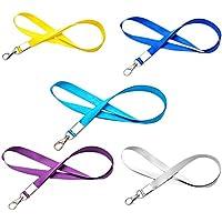 lumanuby 5 correas con cordón para tarjeta de identificación en el cuello de para el Trabajo para Tarjeta, Insignia, cordón de soporte para el cuello con hebilla de metal
