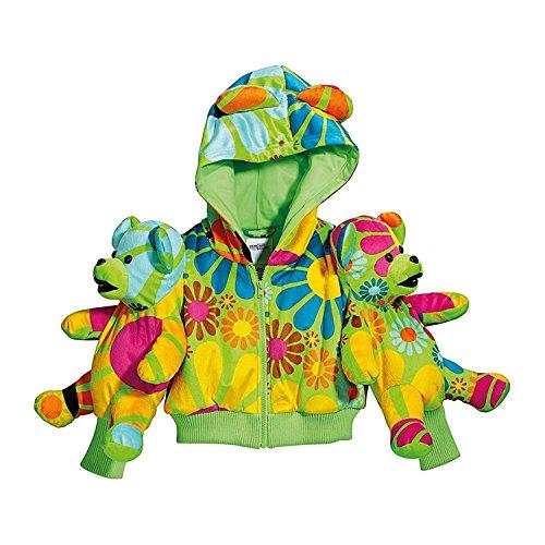 adidas Womens Bear Hoody - Jeremy Scott (Multicolor/Macaw)