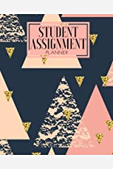 """Student Assignment Planner: Pink & Gold 