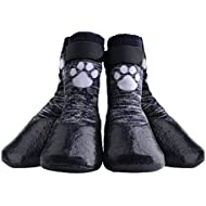 HOMIMP Dog Socks Anti Slip with Straps Traction Control Waterproof Paw Protector, L