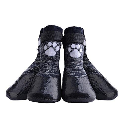 HOMIMP Calcetines antideslizantes para perro con correas de control de tracción, impermeables, protector de huellas