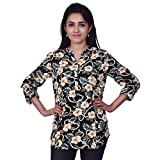 Orange Plum Women's Printed Top