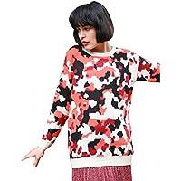 19b0b8fa09 Lady s Knitted Multi-color Orange Black Leapard Animal Print Jumper Top  Sweater