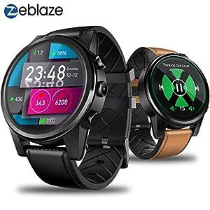 Bluetooth Smartwatch, BZLine Zeblaze Thor 4 Pro Intelligente Uhr Armbanduhr Sport Fitness Tracker mit Schrittzähler Blutdruck Schlaftracker Kompatibel mit Android und IOS