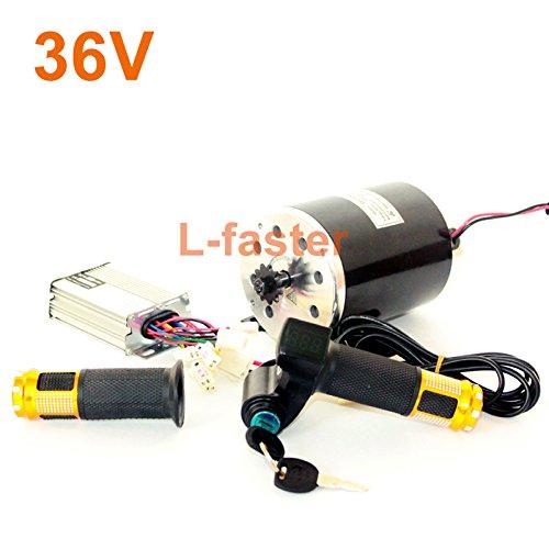L-faster 36V48V 750W Elektrischer Motorrad-Umbausatz MY1020 UNITEMOTOR Permanenter Magnet Gebürsteter DC-Motor Elektrischer Roller-Motor # 25H (36V Upgraded Kit) (750w Motor)