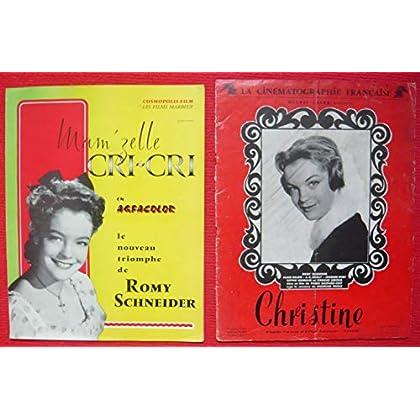 Dossier de presse de Mam'zelle Cri-Cri (1955) + Affichette Christine – 24x30cm, 4 p - Film de Ernst Marischka avec Romy Schneider, M Schneider– Photos N&B - résumé du scénario - Bon état.