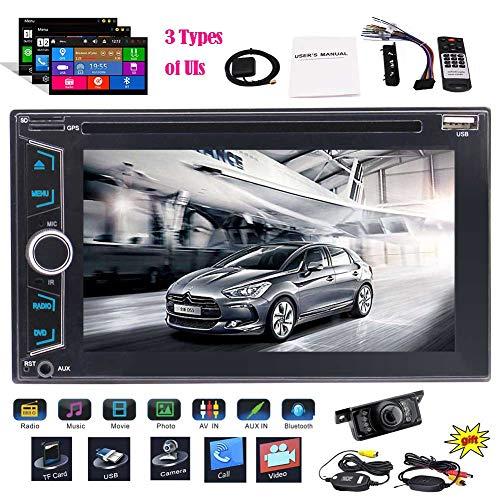 EINCAR 6.2 Zoll kapazitiv 5 Punkt-Multi-Touch-Screen-Doppel-DIN-Auto-DVD-Spieler Autoradio 2din Schlag im GPS-Navigation Autoradio-Stereo Farben-Knopf-Lichtern Unterstützungs-USB/SD/Bluetooth Din-touch-screen