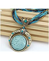 FULL MOON Statement Necklace, Fashion Jewellery, Vintage Style Handmade Jewellery