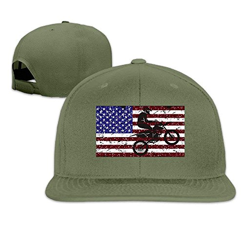 fboylovefor Usa Flag Motocross Men Women Baseball Caps Snapback Hip Hop Flat Hat