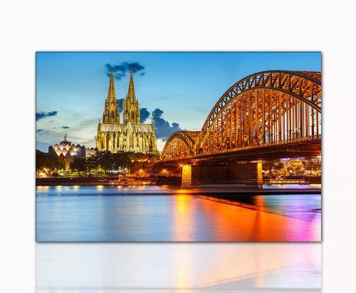 DEINEBILDER24 - Wandbild XXL Köln 80 x 120 cm auf Leinwand und Keilrahmen. Beste Qualität,...
