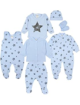 TupTam Baby Bekleidungsset Erstausstattung Sterne 7 teilig