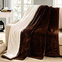 MQZM-Imbottitura invernale doppie nozze di napping blanket coral plaid in pile coperta blanket asciugamano dono ,3,150X200CM