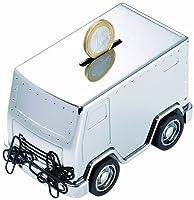 Alcancía con diseño de camión de caudales, pisapapeles con imán para clips y mec de Troika