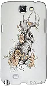Timpax protective Armor Hard Bumper Back Case Cover. Multicolor printed on 3 Dimensional case with latest & finest graphic design art. Compatible with Samsung Galaxy Note II N7100 Design No : TDZ-21928