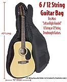 Performance Plus gb58020mm Deluxe Gepolsterte Gitarrentasche, Ballistic Grade 600Denier Nylon für die meisten 104,1cm und 109,2cm Akustik 6und 12-saitige Gitarren