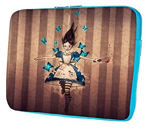 Snoogg Unbarmherziger Alice 38,1cm Zoll auf 39,4cm Zoll auf 39,6cm Zoll Laptop Notebook Schuber Sleeve Soft Case, der Fall für MacBook Pro Acer Asus Dell HP Sony Toshiba