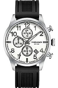 HEAD Reloj Cronógrafo para Hombre de Cuarzo con Correa en Silicona HE-007-02 de HEAD