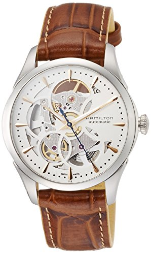 Hamilton Jazz Maser Womens Lady H32405551 Stylish Skeleton Dial Automatic Watch