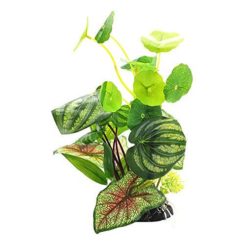 collectsound Kunstpflanze für Aquarien, Lotusblatt, Kunstpflanze