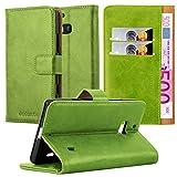 Cadorabo Nokia Lumia 929/930 Hülle in Gras GRÜN Handyhülle Luxury Design mit Magnetverschluss Standfunktion & Kartenfach Case Cover Schutzhülle Etui Tasche Book Klapp Style