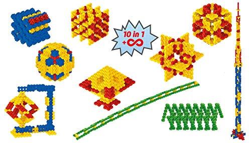 Fanclastic 100633 Geometrie Set 10-in-1 Konstruktionsspielzeug 223-teilig, gelb/blau/rot/grün